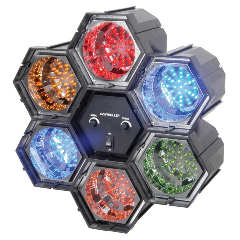Linkable LED efect luminos cu 6 module
