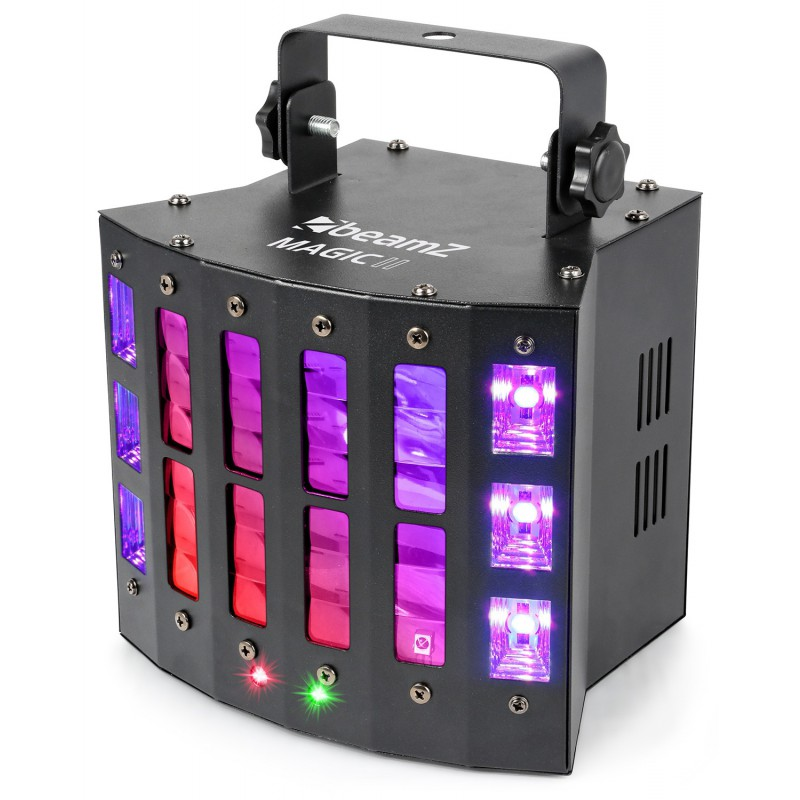 Efect Magic2 Derby LED-uri RGBWPWW cu laser RG si stroboscop DMX
