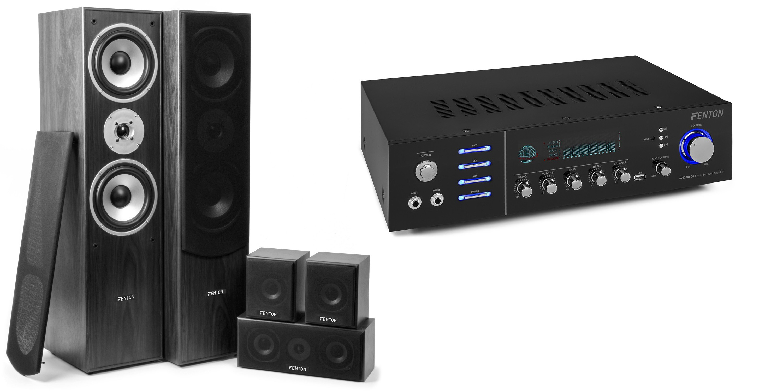 Sistem Home Theatre 5.0 negru + amplificator surround Bluetooth/MP3 AV320BT
