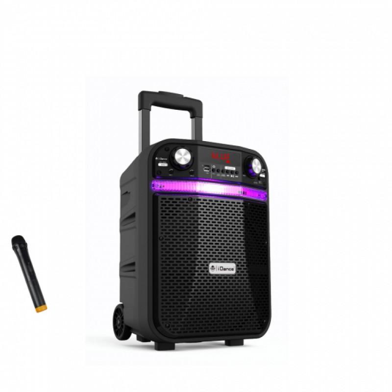 Boxa portabila 200W acumulator Li-on, 1x microfon wireless, Bluetooth/ USB/ Radio