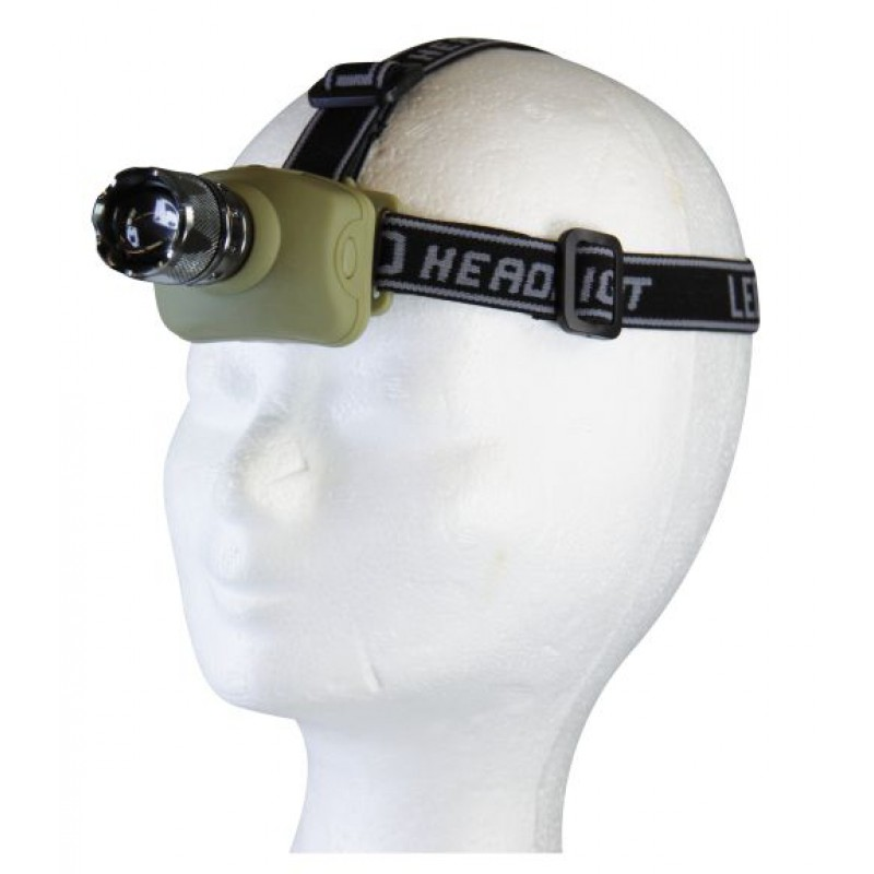 Lanterna de cap, 3x AAA, 1x LED 3W zoom Emos