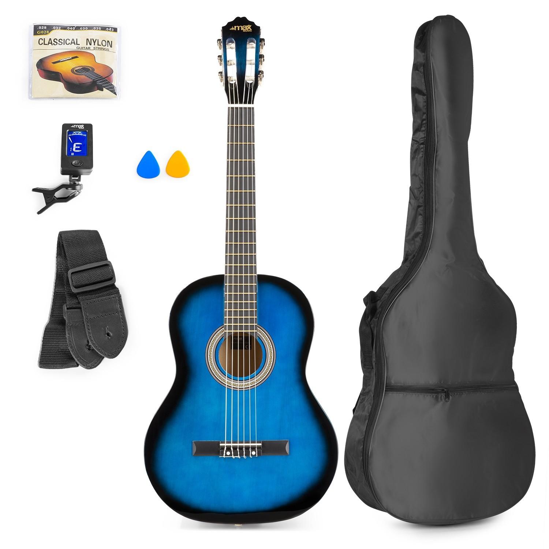 Chitară clasică, geantă de transport, albastru, MAX SoloArt