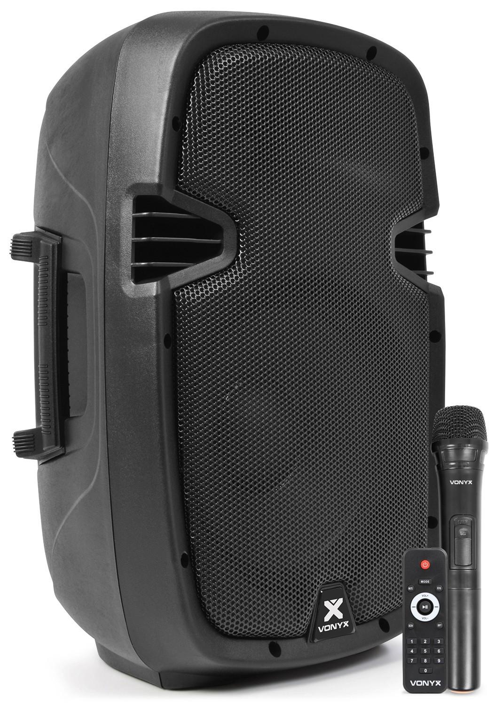 "Boxa activa mobila ABS 10""/75W RMS  1xVHF SPJ-PA910 BT/VHF/USB/MP3"