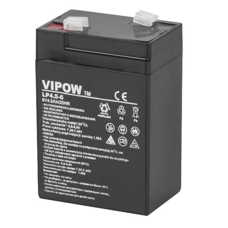 Acumulator Vipow gel plumb 6V 4.5Ah