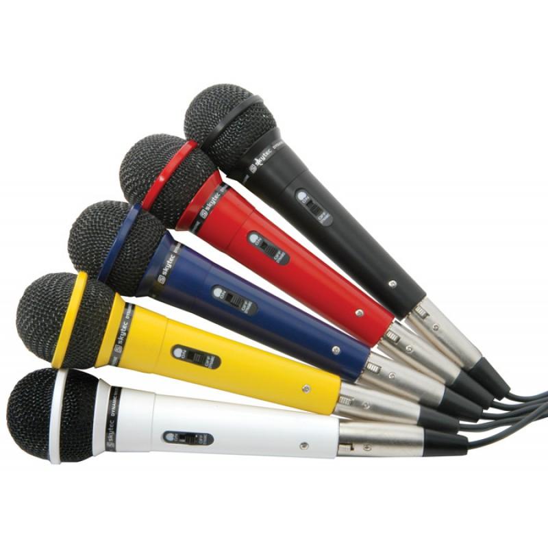 DM120 Set de microfoane karaoke dinamice, 600Ohms, 5 culori, Fenton
