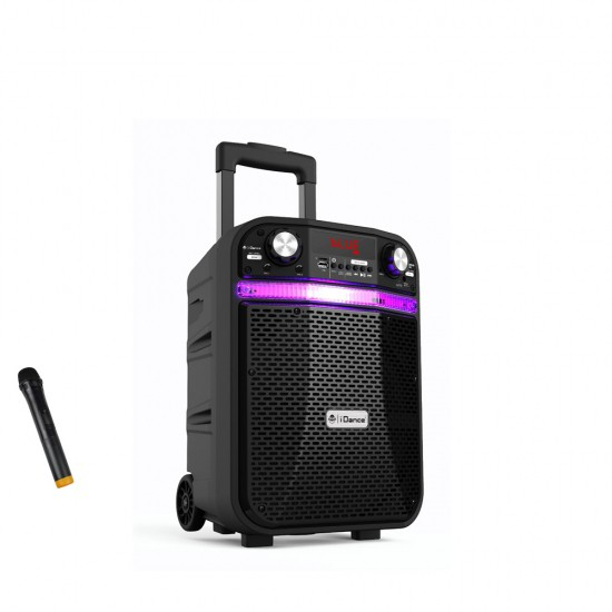 Boxa portabila 200W acumulator Li-on, 1x microfon wireless, Bluetooth/ USB/ Radio