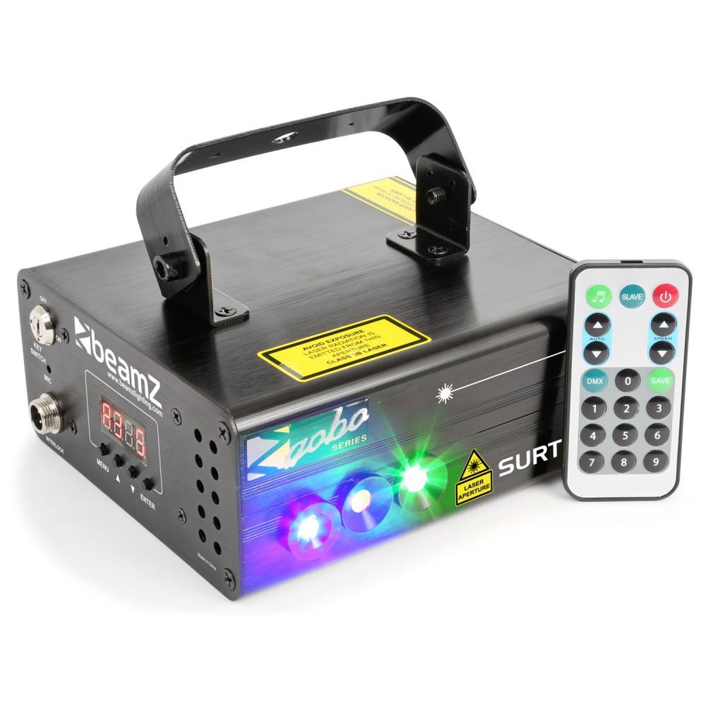 BeamZ Laser Surtur II Dublu Rosu si Verde Gobo DMX IRC 3W Blue LED