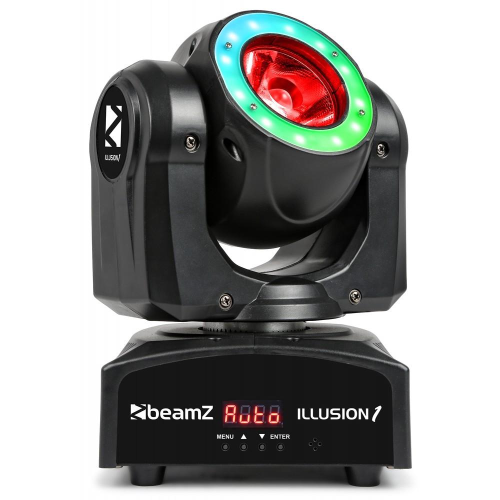 Illusion Moving Head LED Beam cu inel LED 60W 4-in-1 RGBW