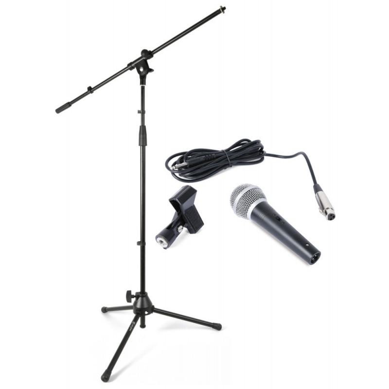 Kit microfon cu geanta de transport.