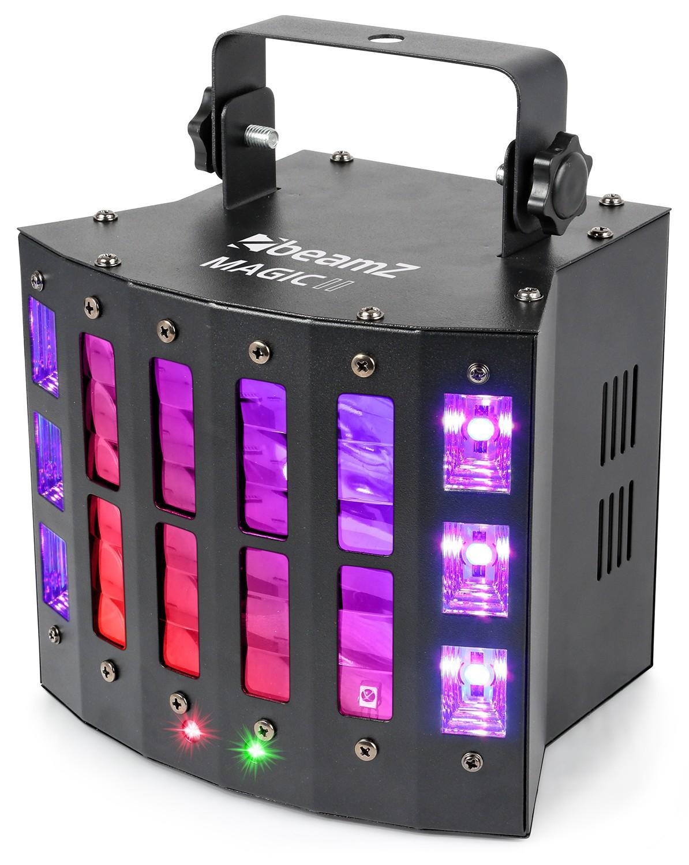 Efect Magic2 Derby LED-uri RGBWPWW cu laser RG si stroboscop DMX