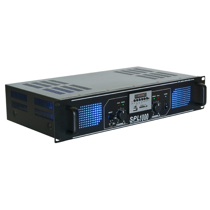 SPL1000MP3 Amplificator putere 2x150W RMS USB/MP3 Skytec