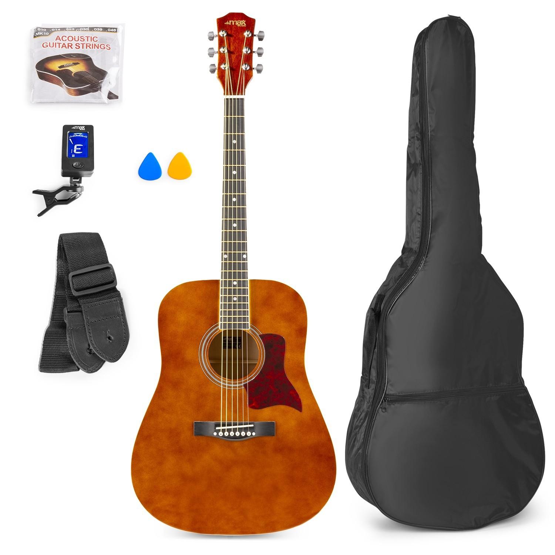 Chitară acustică western, geantă de transport, maro, MAX SoloJam