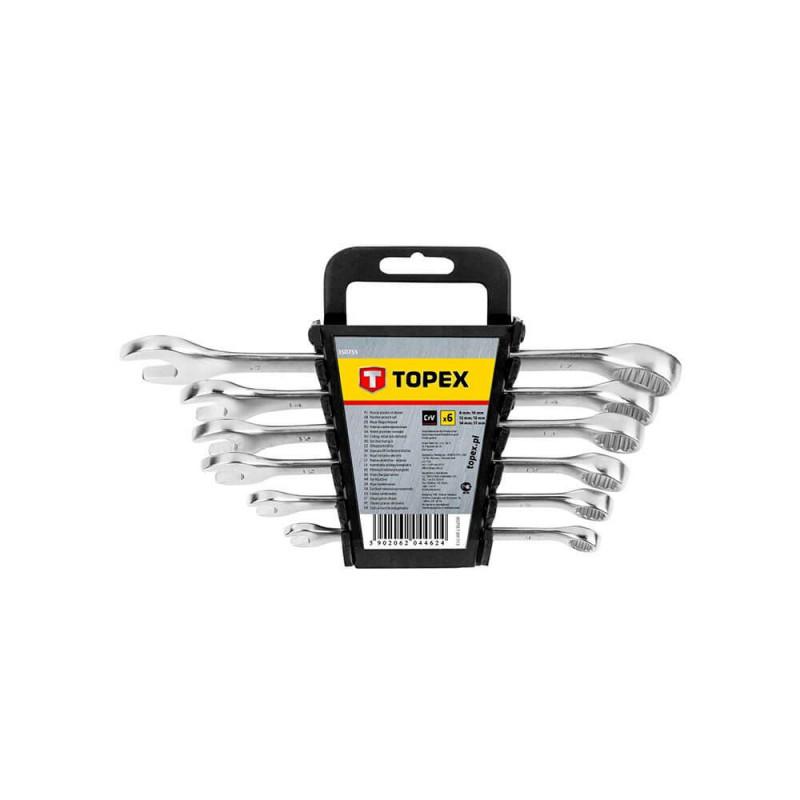 Set chei combinate fixe - inelare 8-17 mm, set 6 buc , Topex