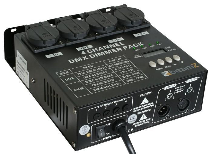 Dimmerpack cu 4-canale DMX512