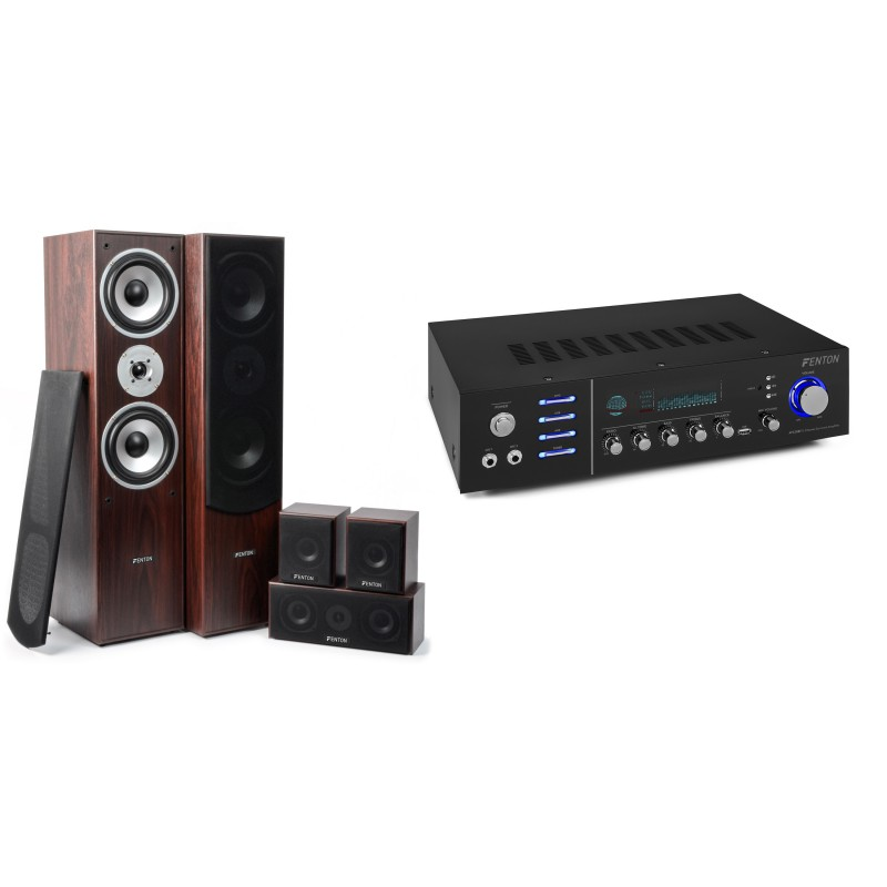 Sistem Home Theatre 5.0 maro + amplificator surround Bluetooth/MP3 AV320BT