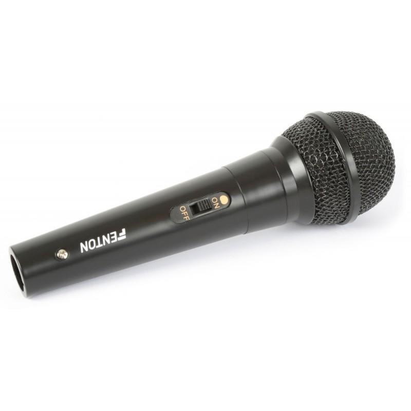 Microfon dinamic, 600 ohm, legatura integrala, negru