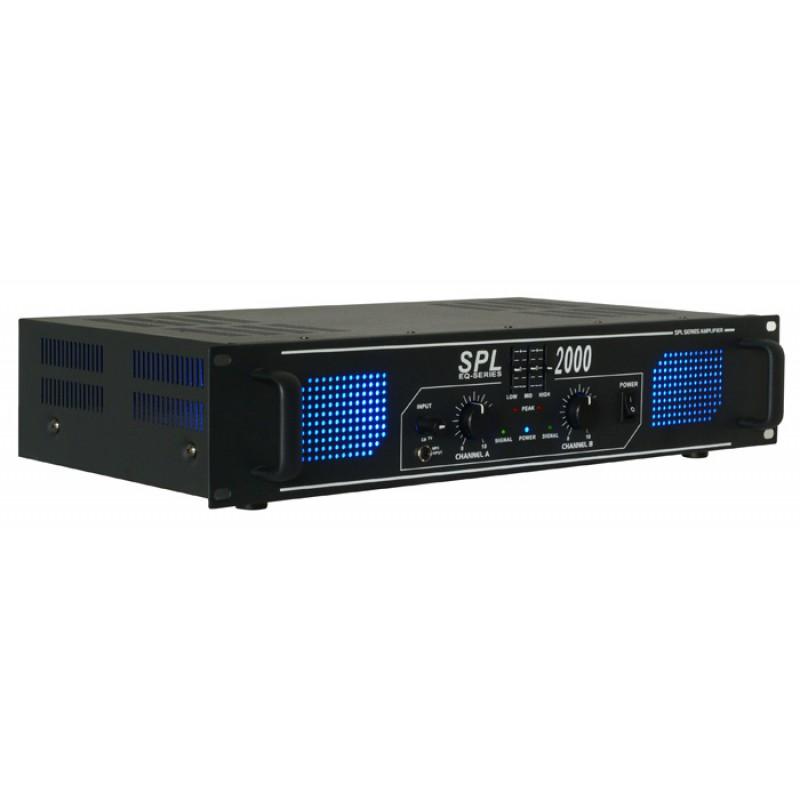 SPL2000 Amplificator putere 2x250W RMS Egalizator Skytec