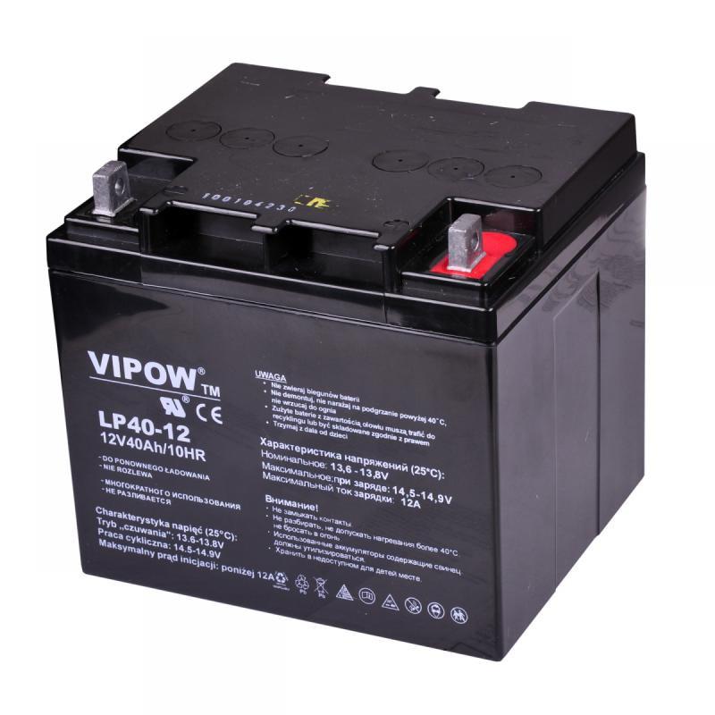 Acumulator Vipow gel plumb 12V 40Ah