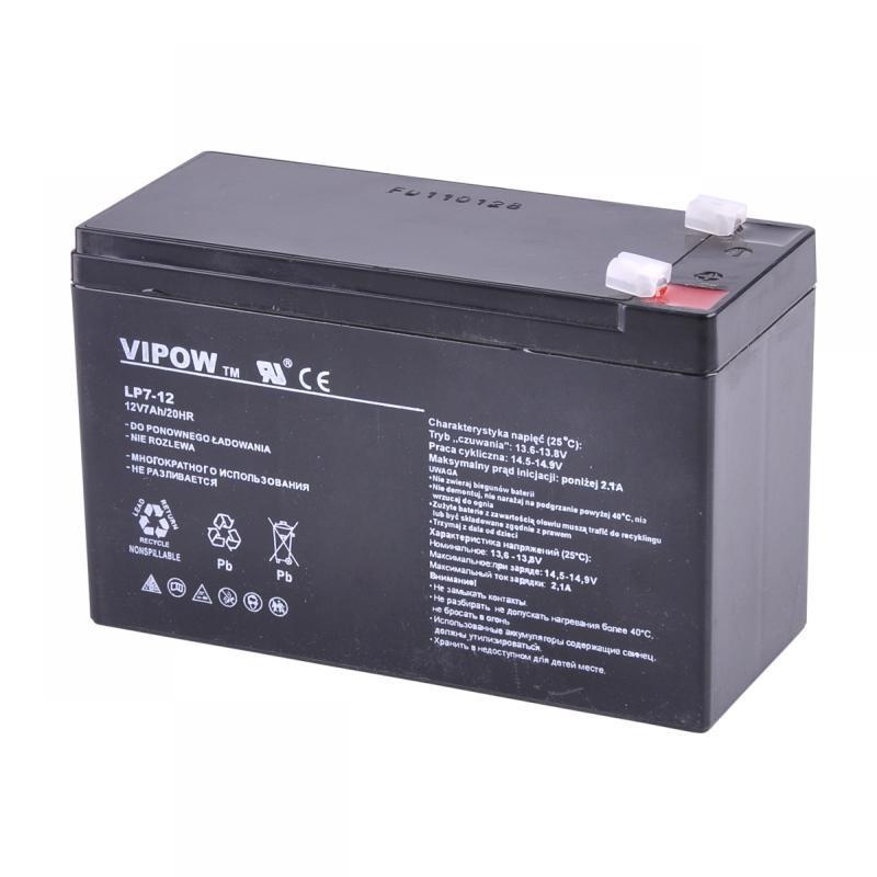 Acumulator Vipow gel plumb 12V 7Ah