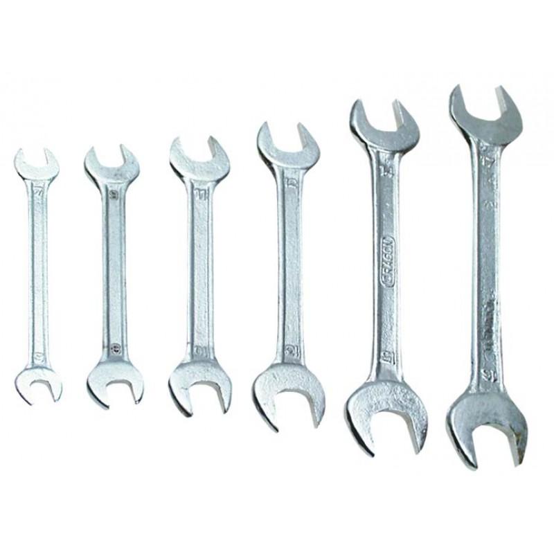 Set chei fixe duble 10-19 mm, 6 buc, Top Tools