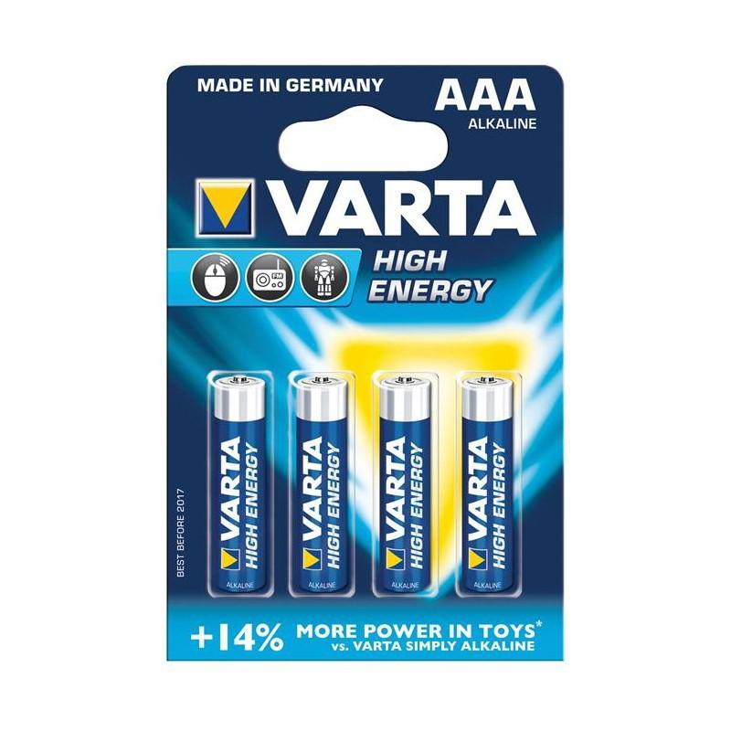 Baterie Varta High Energy, LR03, AAA pret/blister