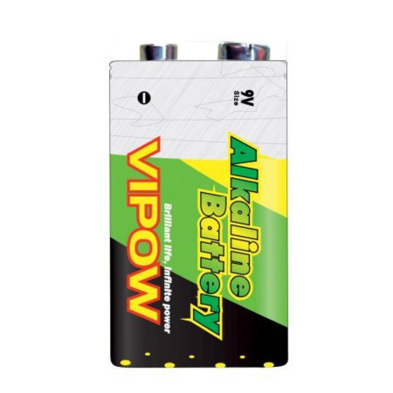 Baterie alcalina Vipow 9V