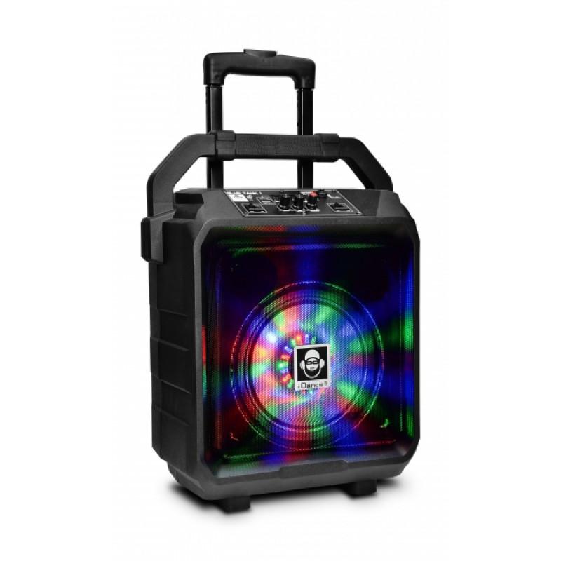 "Idance Boxa portabila acumulator Li-Ion microfon cu fir 8"" Bluetooth / USB 100W RMS"