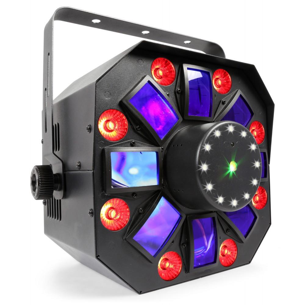 MultiAcis IV Lumina disco cu LED si laser / strobe BeamZ