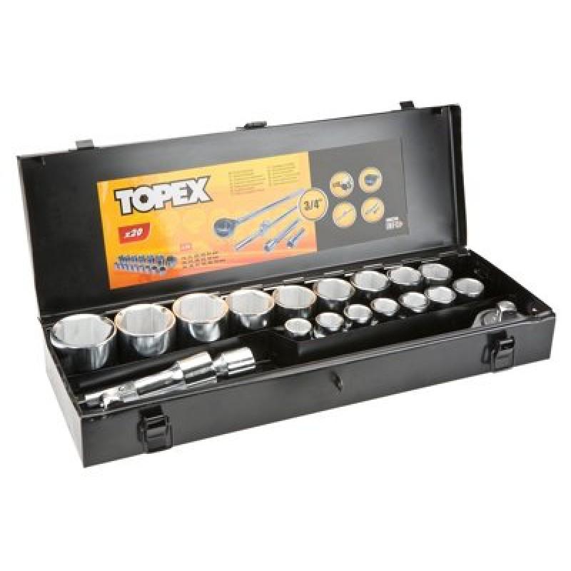 "Tubulare in set 3/4"", 20 buc -set, Topex"