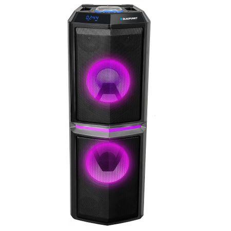 Boxa portabila Blaupunkt PS10DB, Bluetooth/FM/SD/USB, Karaoke, lumini disco, negru