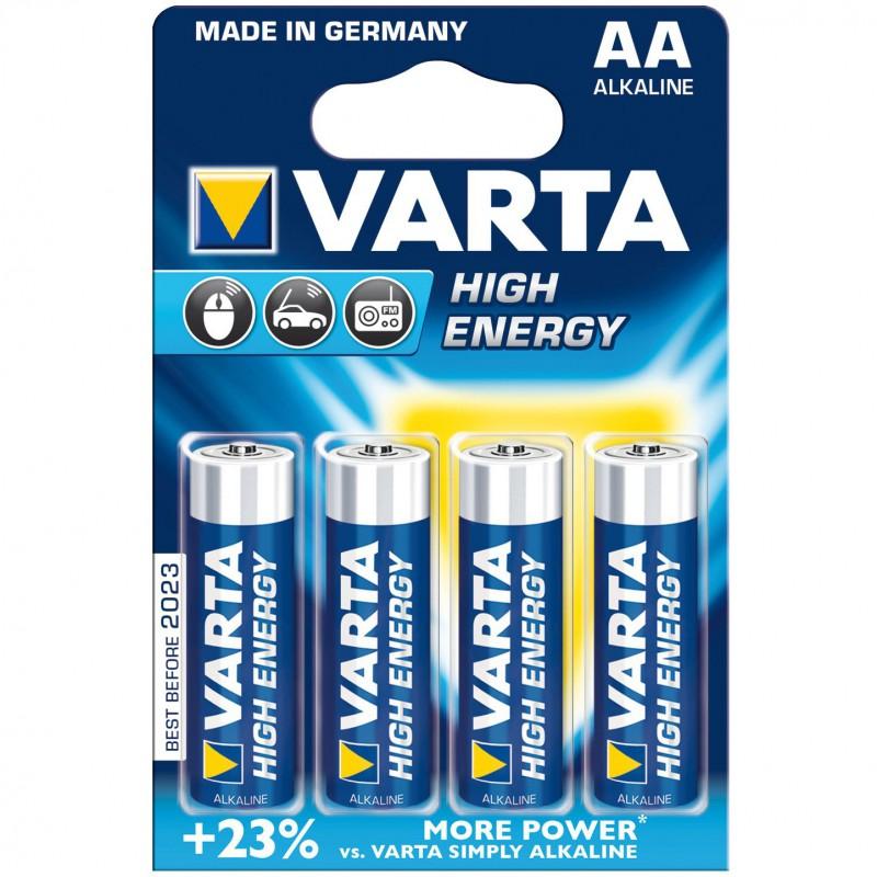 Baterie Varta High Energy LR6, AA pret/blister