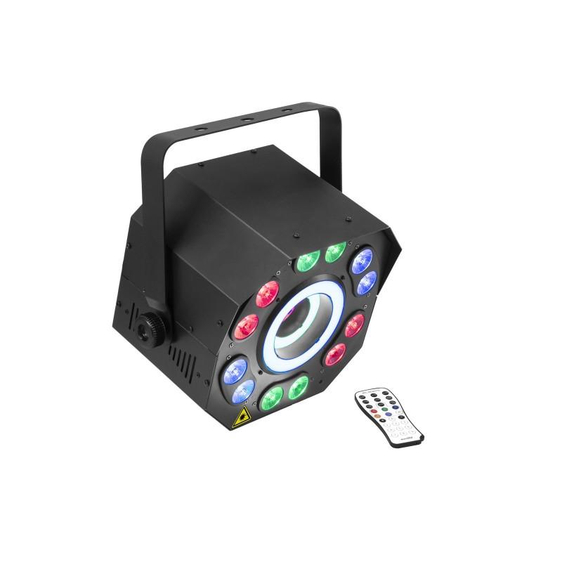 FE-2500 Efect lumina LED RGB+UV cu washball, inel Hypno si Laser EUROLITE