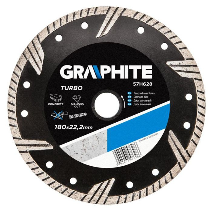 Disc diamantat 180x22.2mm, Turbo, Graphite