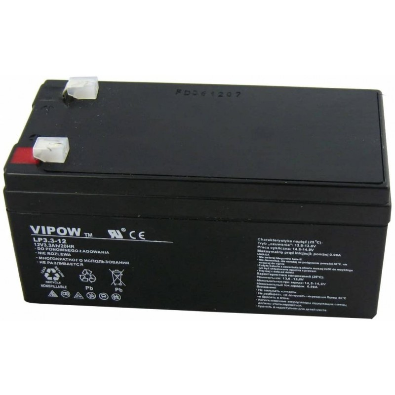 Acumulator Vipow gel plumb 12V 3.3Ah