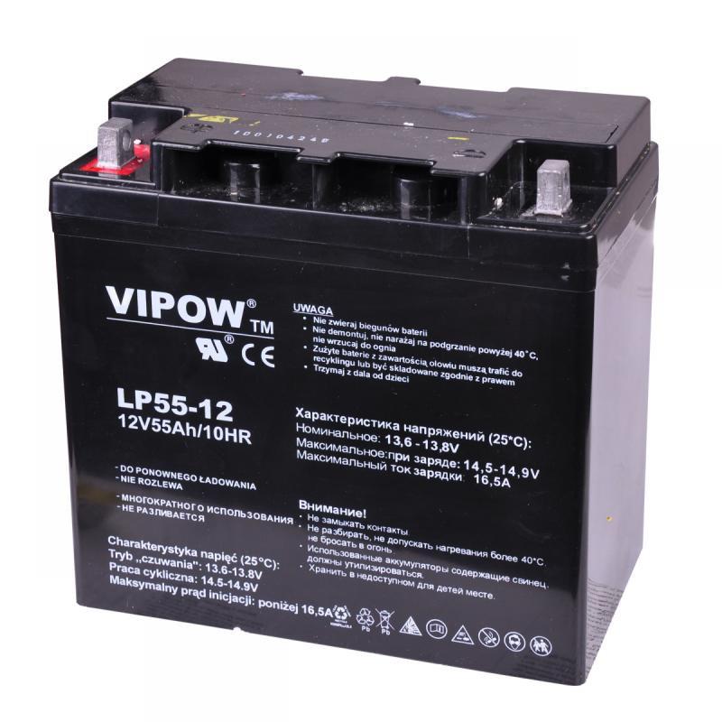 Acumulator Vipow gel plumb 12V 55Ah