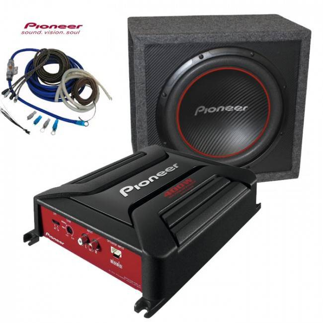 subwoofer 350w pioneer gxt 3706b. Black Bedroom Furniture Sets. Home Design Ideas