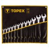 Set chei combinate fixe - inelare 13-32 mm, 12 bucati, Topex