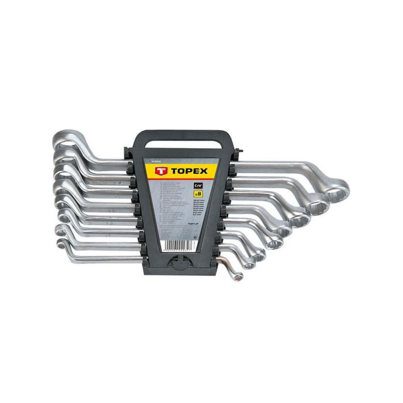 Set chei inelar-cotite 6-22 mm, 8 buc -set, Topex