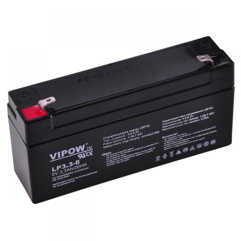 Acumulator Vipow gel plumb 6V 3.3Ah