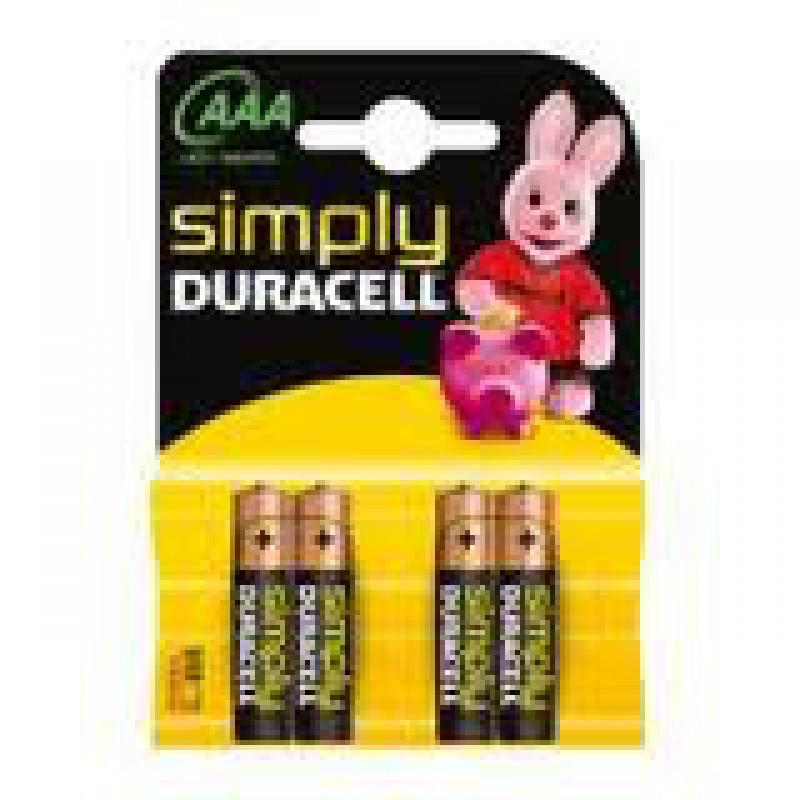 Baterie Duracell simply LR03, pret/blister