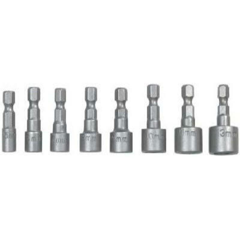 """Set tubulare cu antrenor bit 1/4"""", 5-13mm, 8 buc, Topex"""