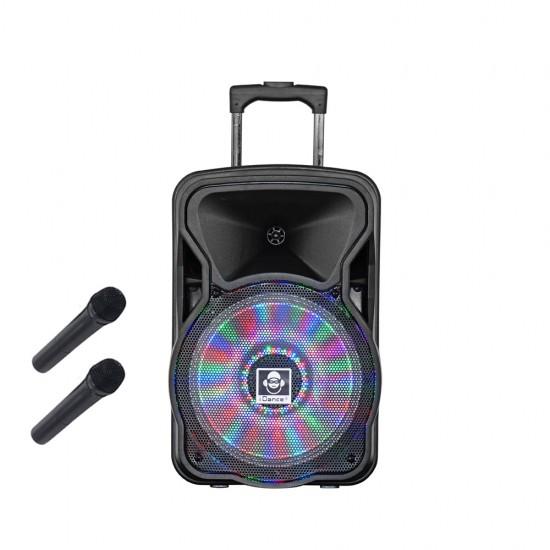 "Boxa portabila acumulator Li-Ion 2x microfon wireless 12"" Bluetooth 150W"