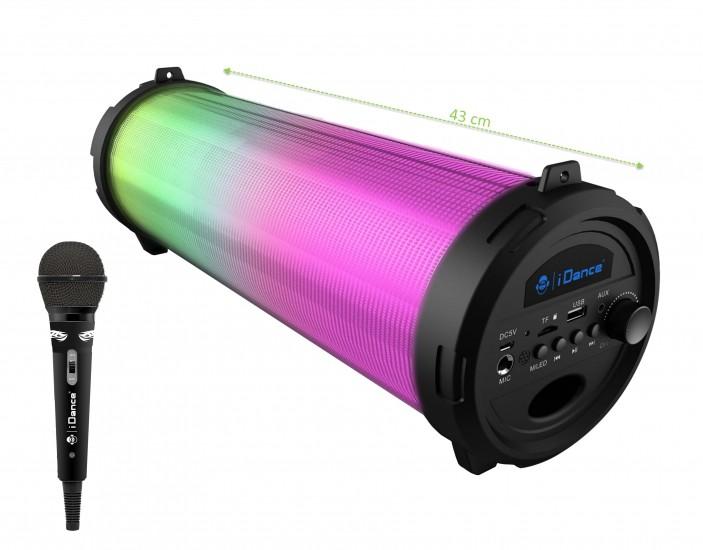 Boxa portabila 50W Karaoke Bluetooth, lumina disco si microfon