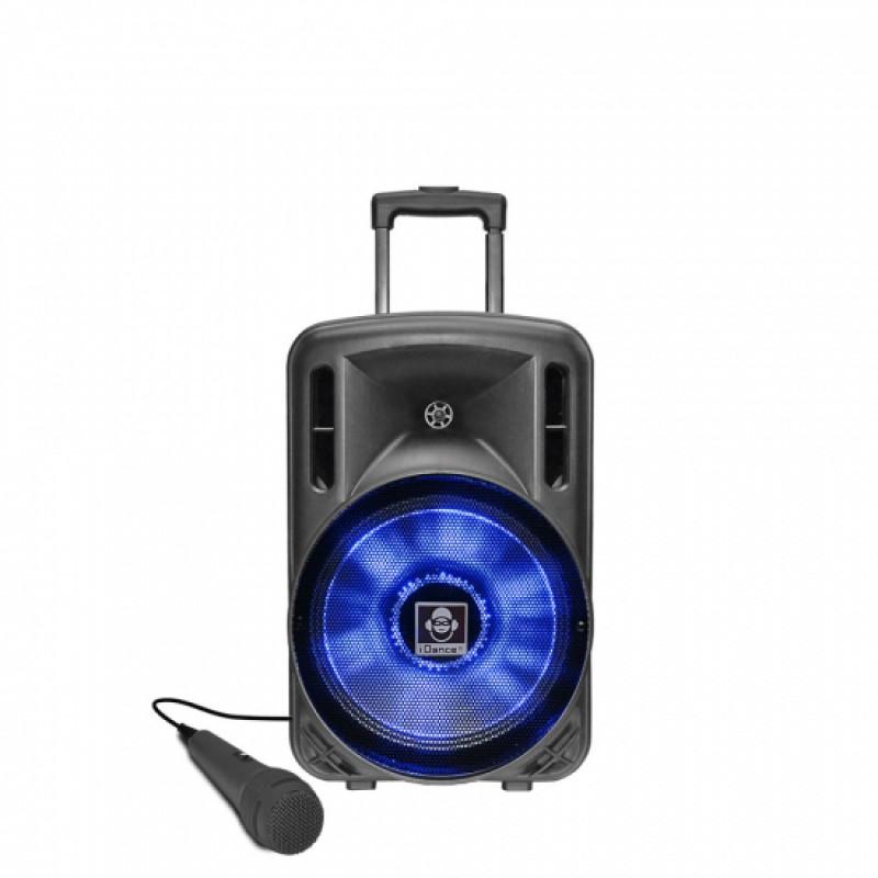 "Idance Boxa portabila acumulator Li-Ion 1x microfon cu fir 12"" Bluetooth 150W RMS"