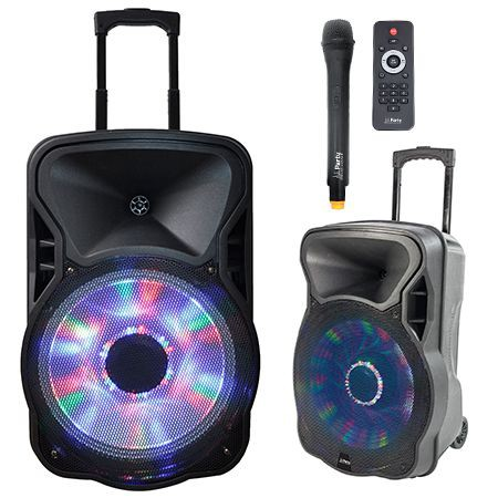 Boxa portabila activa iluminat15 inch/38CM  USB/SD/BT/FM IBIZA