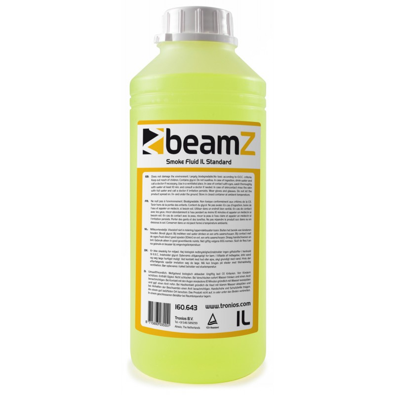Lichid de fum standard, galben, 1 litru, BeamZ