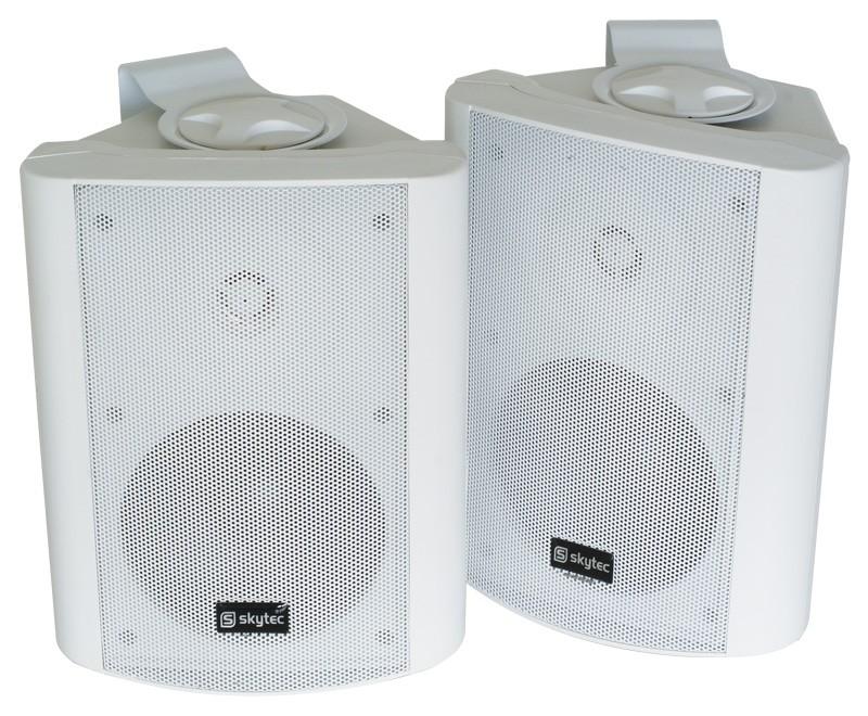 Set boxe stereo, 50W RMS, albe