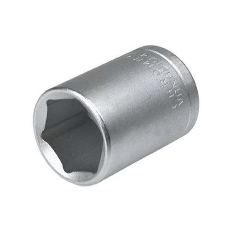 "Tubular in 6 puncte 1/4"", 13 mm, 19mm lungime, Topex"